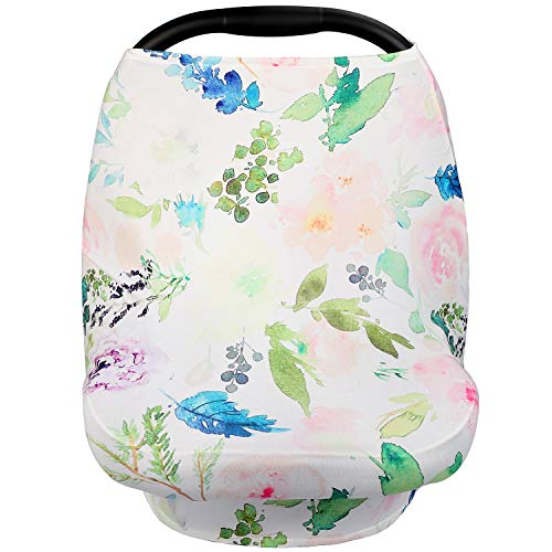 Nursing Cover Breastfeeding Scarf Baby Car Seat Canopy for Shopping Cart, High Chair, Stroller -Infinity Nursing Cover Scarf Perfect Gift for New Moms