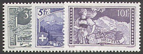 Goldhahn SchWeiß Nr. 121-123 postfrisch  Landschaften 1914  Briefmarken für Sammler Postfrisch