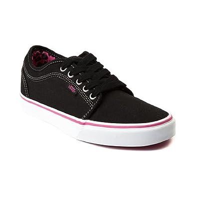 1db6d336c4fb Vans Chukka Low Women s Skate Shoes Leopard Black Pink (Women s Size ...