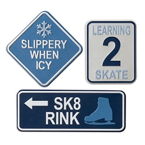 KAREN FOSTER Design Metal Sign Scrapbooking Embellishments, Ice Skating ()
