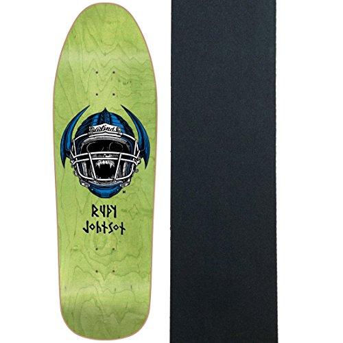 Blind Skateboard Deck w/ Grip Re-Issue Johnson Jock Skull Green 9.875
