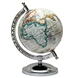 MasterpieceIndia Geographical Educational 5 Inches Diameter World Earth Desktop Mini Gift Decor Kids Office Home Decorative Tabletop Globe (Off-White1)