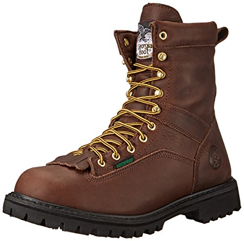 Georgia Men's G8041 Logger M Work Boot, Tumbled Chocolate, 14 W US by Georgia (Image #1)