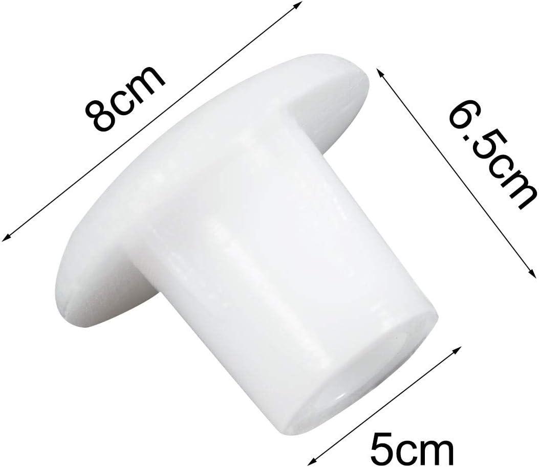 sourcing map Muebles de 5 mm de la perforaci/ón del Agujero Tapones d/ípticas 130 Piezas Blanco
