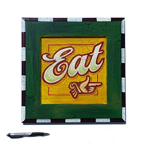 Eat vintage style diner sign hand painted by Chuck Peterson Designs