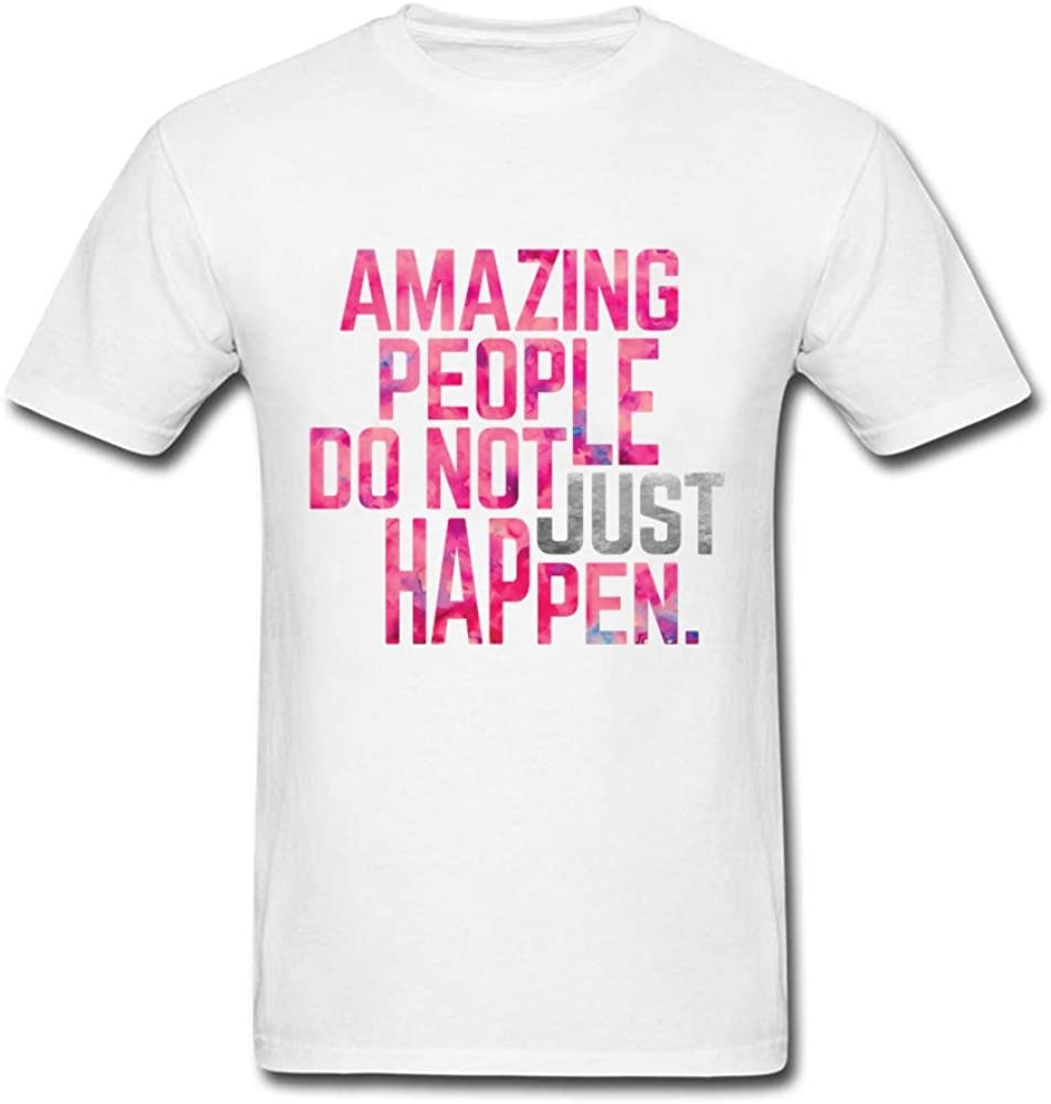 ttfy Amazing personas no Just Happen hombre algodón orgánico O-Neck camisetas: Amazon.es: Ropa y accesorios