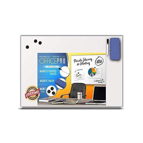 Amazon.com: OfficePro - Tablero de borrado en seco magnético ...