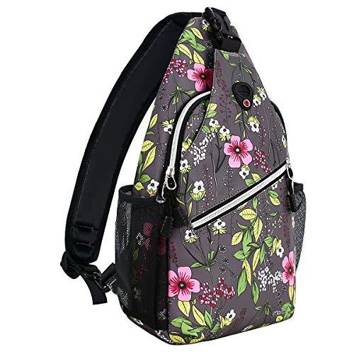 MOSISO Sling Backpack,Travel Hiking Daypack Periwinkle Crossbody Shoulder Bag