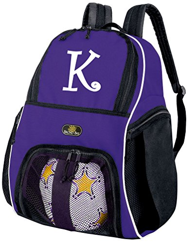 Personalized Soccer Backpack or Personalized Volleyball Bag Purple BROAD BAY from Broad Bay