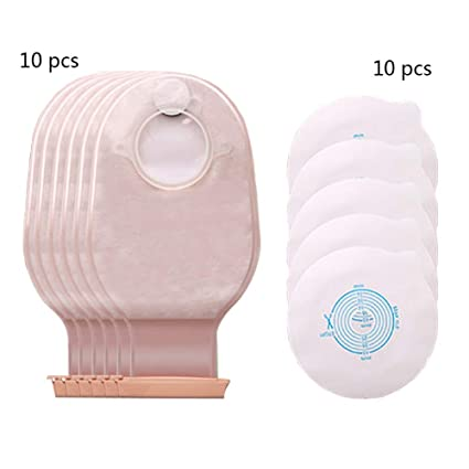 Amazon.com: JIN Two Piece Drainable Ostomy Pouch with ...