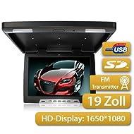 Deckenmonitor 48,26cm, 19 Zoll 16:9 HD-Display 1650x1080 Pixel, mit USB/SD & FM+IR-Transmitter
