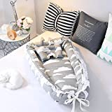 Ukeler Cotton Portable Travel Infant Bed,Crib,Bassinet,Or Penguin Baby Nest for Baby Lounger, Infant Lounger, Newborn Lounger
