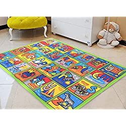Handcraft Rugs-Game Carpets for Kids, Kids Toy, Kids Learning Rug, Kids Floor Rug Learning Alphabet Non-Slip/Gel Back Kids Bedroom/Classroom Carpet 8 ft. by 10 ft.