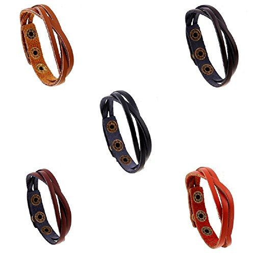 Bangle Bracelet for Women Men New Wrap Bracelets Classic Popular Leather Wrap Braided Wristband Cuff Punk Unisex Bracelets Bangles Jewelry Accessories Gifts