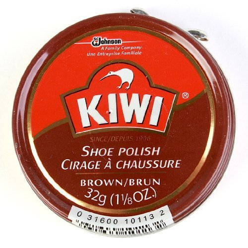 Kiwi Waxed Shoe Polish Brown Can, 1.125 OZ (Pack - 3)