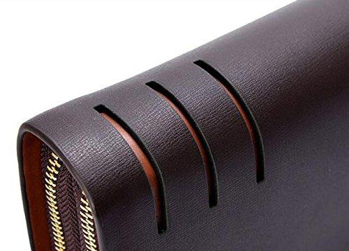 Bolsos De Los Hombres Multifuncional Business Handbag Handle Handle Wallets Card Pack Moda Simple Black