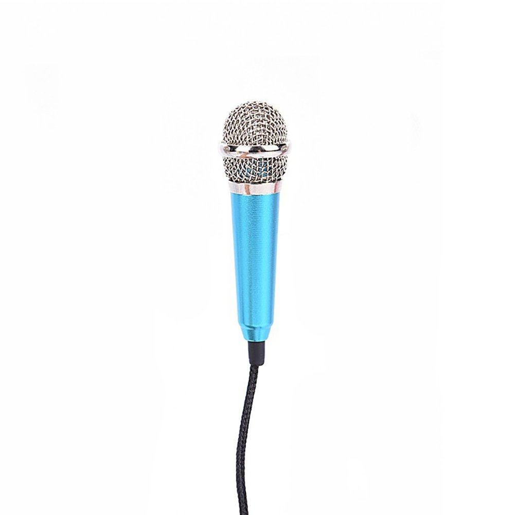 Brave669 3.5mm Universal Wire Connect Karaoke Metallic Mini Microphone for Cell Phone PC
