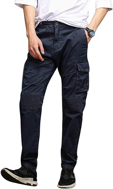 Wanyangg Hombre Pantalon Cargo Pants Color Solido Pantalones Tipo Militar Multibolsillo Casuales Work Trousers Amazon Es Ropa Y Accesorios