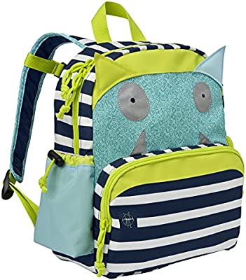 Lassig Kids Medium Little Monsters Backpack, Bouncing Bob