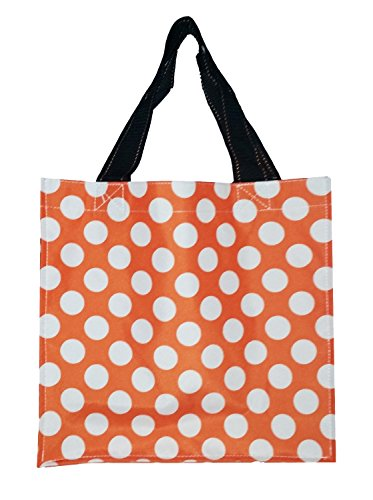 Polyester Fabric Halloween Bag Trick or Treat Storage - Can be Personalized (Orange Dots)