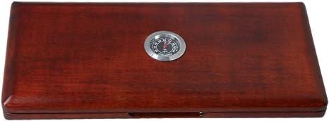 Yibuy caja de almacenamiento de cañas de madera maciza con higrómetro para 20 cañas Oboe: Amazon.es: Instrumentos musicales