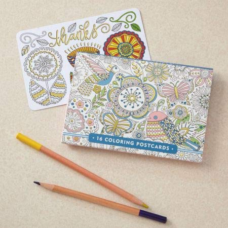 Coloring Postcards - 4'' x 6'' (set of 16)