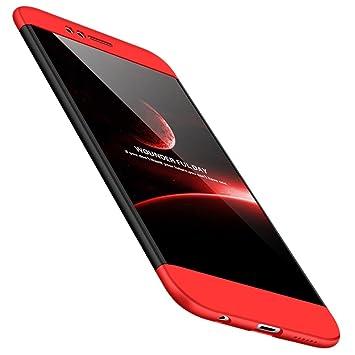 RINOJF Funda Compatible Huawei Nova 2 Carcasa[2 Vidrio Templado] 360° protección Caja Ultra Delgado Duro PC 3 en 1 Anti-Golpes Anti-Arañazos Case ...
