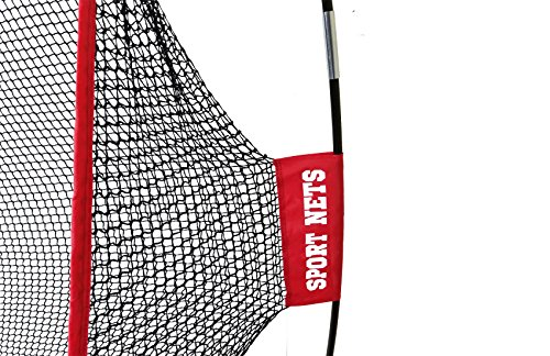Large 10 X 7 Portable Golf Net - Great for year around golf practice - Can be used to hit balls indoors or outdoors. Large hitting area to catch all golf shots by Sport Nets (Image #1)