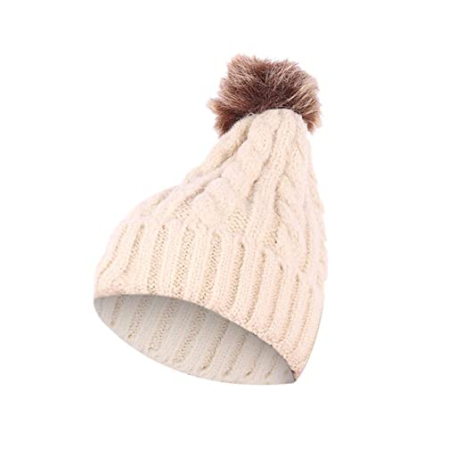 NEW *PLAIN* BEANIE HAT KNITTED WINTER WOOLY CAP WARM FITTED WOOLLY TURN UP