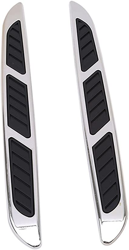 2 Side Body Marker Fender Air wing Black Vent Trim Cover Chrome For All The Car