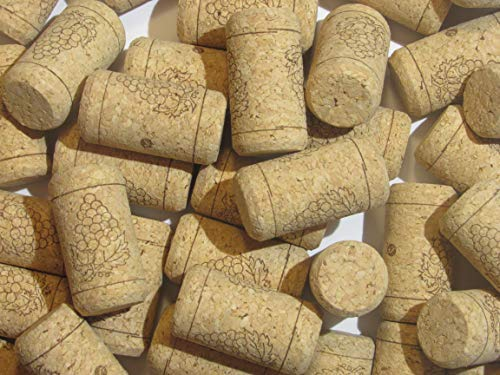 100 Printed Wine Bottle Corks - Bulk #9 Agglomerated Natural Corks Best for Corking Young Homemade Winemaking With Home Corker or Craft Cork Supply for DIY Art Winecork Projects