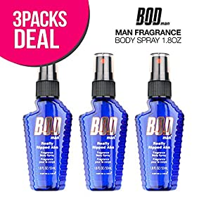 3 Pack! PARFUMS DE COEUR BOD Man Fragrance Body Spray 1.8oz (Really Ripped Abs)