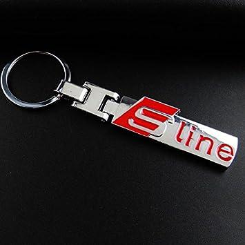 TiooDre Auto Clave Cadena Car Styling de Plata del Coche de Metal Llavero Llavero Coche para Audi A1 A3 A4 A5 A7 A8 Q3 Q5 Q7 R8 TT Llavero Llavero