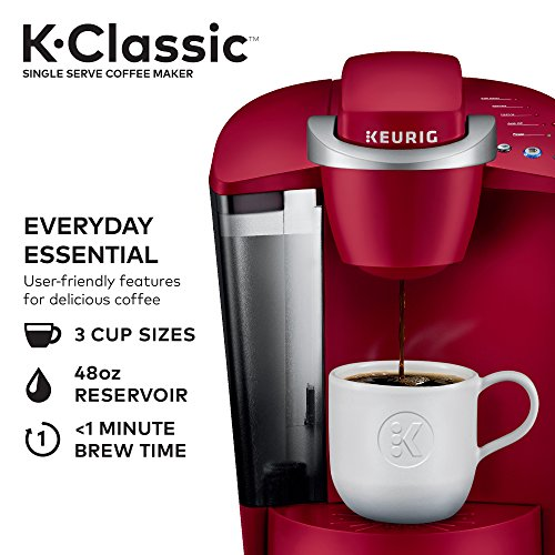 Keurig K-Classic Coffee Maker, K-Cup Pod, Single Serve, Programmable, Rhubarb