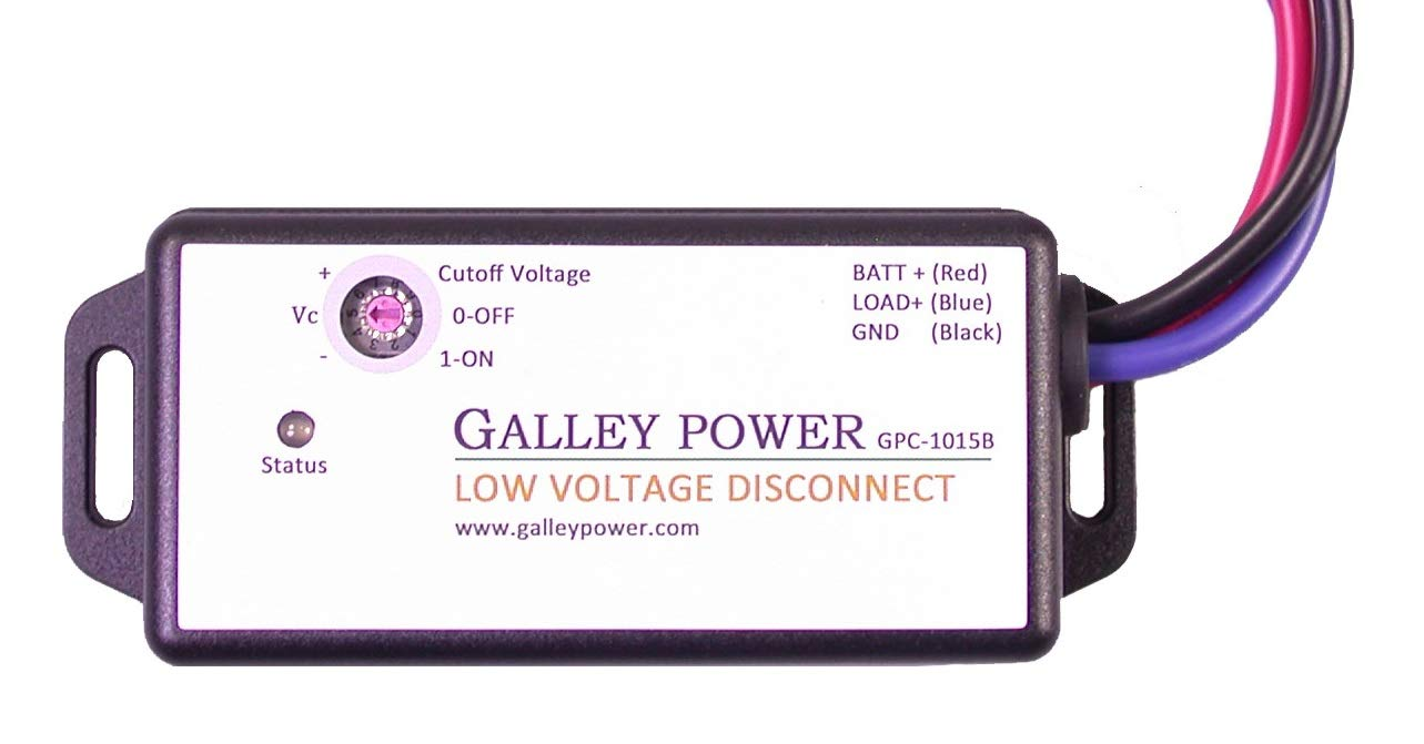 30A Low Voltage Battery Disconnect, 12V/24V Auto Detect by Galley Power LLC