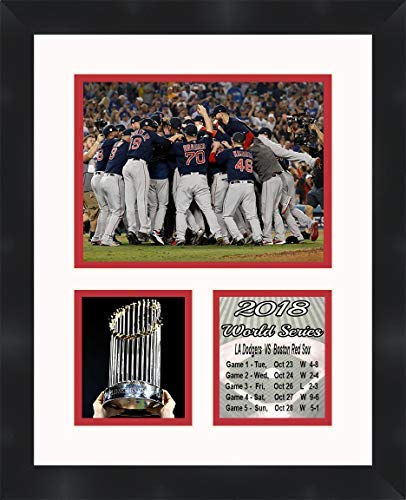 Boston Red Sox - 2018 World Series Champions, 11 x 14 Matted Collage Framed Photos Ready to Hang