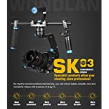 DHL Wondlan SK02 3-Axis Brushless Gimbal Stabilizer Handheld Gimbal Dual handle For SONY DSLR Canon Cameras load 2KG