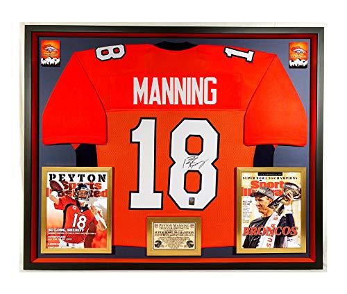 Premium Framed Peyton Manning Autographed/Signed Denver Broncos Jersey - OFFICIAL MANNING HOLOGRAM COA (Signed Peyton Manning Jersey)