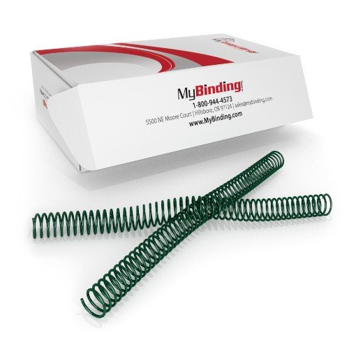22mm Forest Green 4:1 Pitch Spiral Binding Coil - 100pk ()