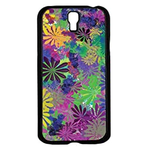 Colorful 70's Retro Flower Pattern Hard Snap on Phone Case (Galaxy s4 IV)