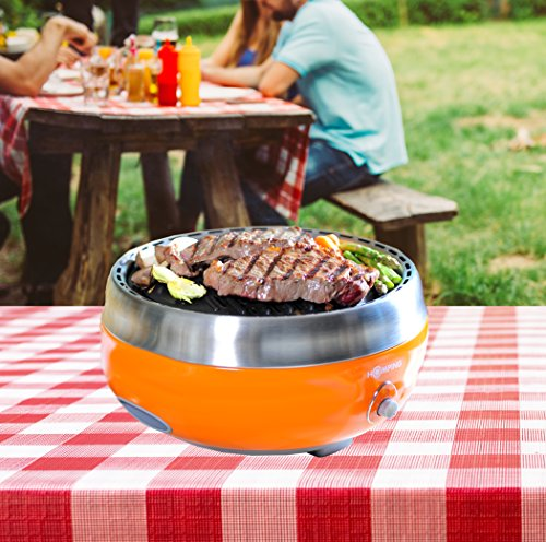 Homping-Grill-Ultimate-Portable-Charcoal-BBQ-Grill-Produces-Less-smoke-Combined-with-its-electric-fan-for-airheat-control-Tailgating-grill