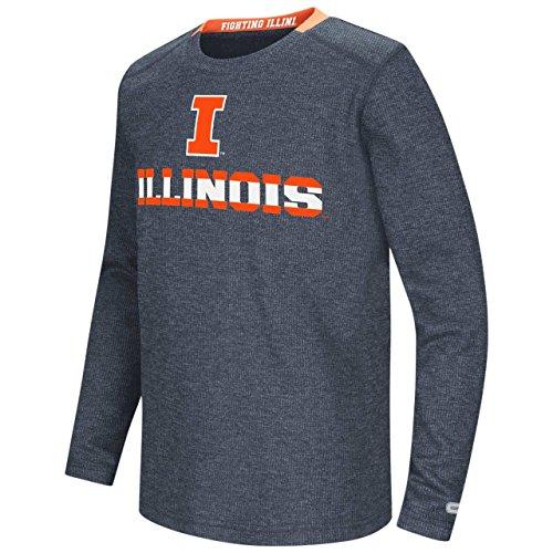 Illinois Fighting Illini Colosseum Youth Steff Waffle L/S Shirt (Medium)