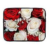 Fonsisi Roses Wedding Flowers Art Laptop Storage Bag - Portable Waterproof Laptop Case Briefcase Sleeve Bags Cover
