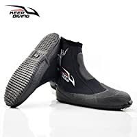 Accrie Outdoor Recreation Product 5mm Neoprene Scuba Diving Boots Water Shoes Winter Cold Proof High Upper Warm Fins Spearfishing Shoes Black L(41-42)