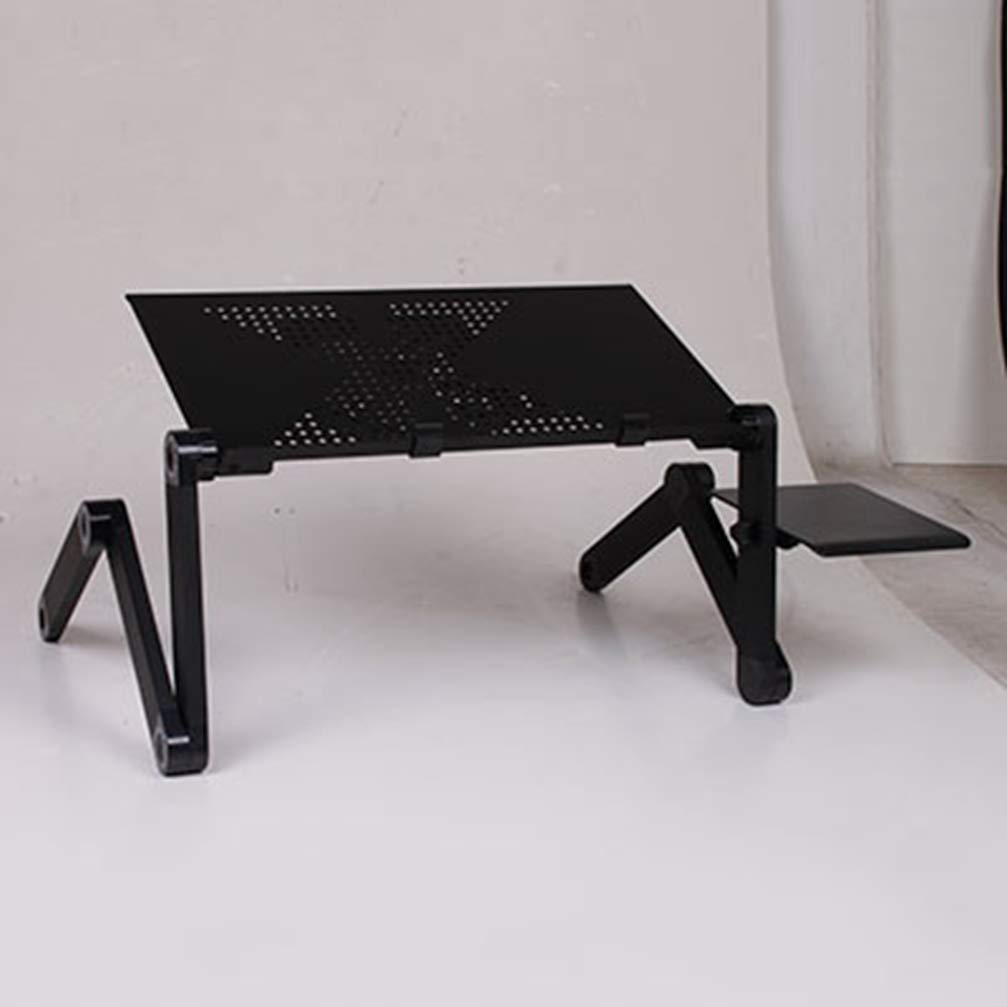Laptop Table Folding Notebook Desktop Stand Union Aluminum Alloy with Cooling Fan Bed Laptop Tray Desk Study Desk