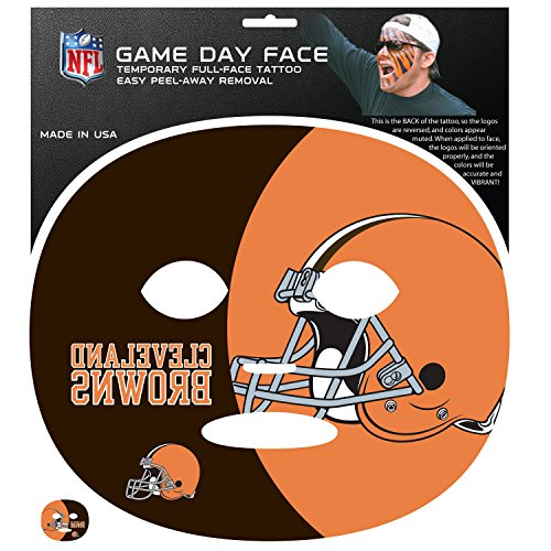 NFL Cleveland Browns Game Day Face Temporary Tattoo