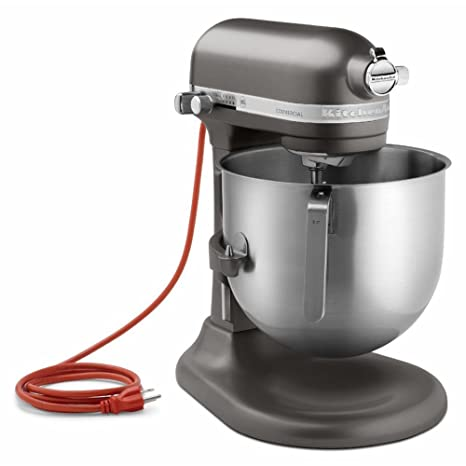 KitchenAid KSM8990DP 8-Quart Commercial Countertop Mixer, 10-Speed, Gear-Driven, Dark Pewter