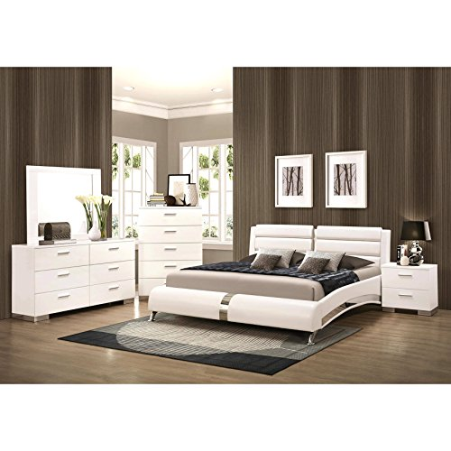 A Line Furniture Crisp Contemporary Designed Upholstered Bedroom Set California King - High End Contemporary Furniture