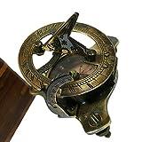 Antiques World Gilbert & Son London Nautical Sun Clock Astrolabe Vintage Solid Brass Home Décor Sundial Compass AWUSASC 015