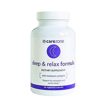 CareZone Sleep & Relax Formula with Melatonin, L-Theanine, Ashwagandha, and GABA